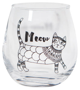 Now Designs Cat Purr Party Wine Glass