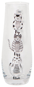 Now Designs Cat Champagne Flute