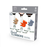 Squirrel Social Climbers Wine Charms