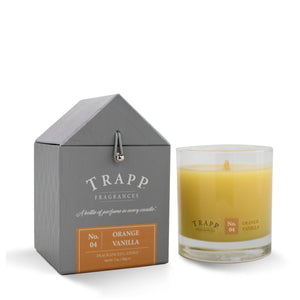 Trapp Signature Home Collection - No. 4 Orange Vanilla Candle 7 oz in Glass
