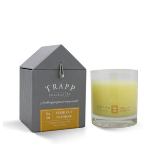Trapp Signature Home Collection - No. 8 Fresh Cut Tuberose 7oz Candle in Glass