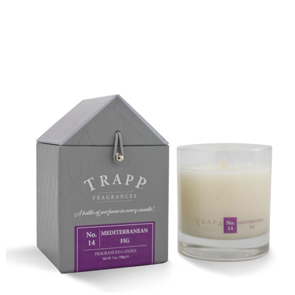 Trapp Signature Home Collection - No. 14 Mediterranean Fig 7oz Candle in Glass