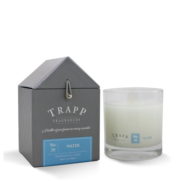 Trapp Signature Home Collection - No. 20 Water 7oz Candle in Glass