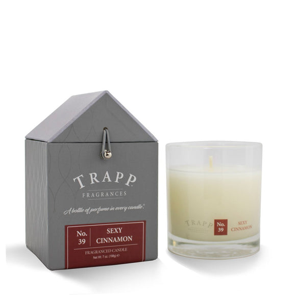 Trapp Signature Home Collection -No. 39 Sexy Cinnamon 7oz Candle in Glass