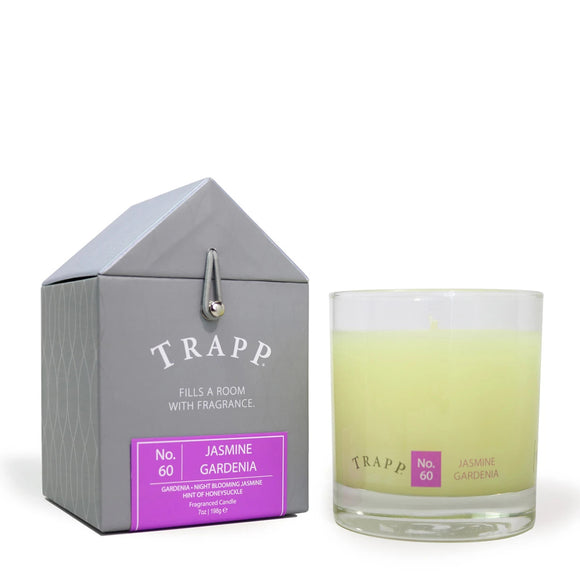 Signature Home Collection - No. 60 Jasmine Gardenia 7 oz Candle in Glass
