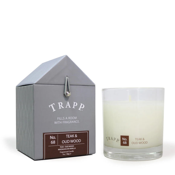 Signature Home Collection - No. 68 Teak & Oud Wood 7 oz Candle in Glass
