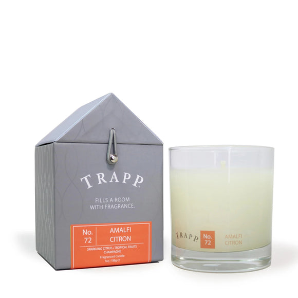 Signature Home Collection - No. 72 Amalfi Citron 7 oz Candle in Glass