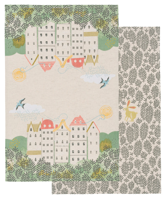 Danica Studio Set 2 Townhouse Hill & Dale Dishtowels
