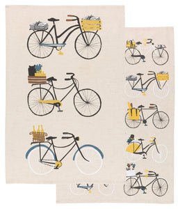 Danica Studio Set 2 Bicicletta Bicycle Dishtowels