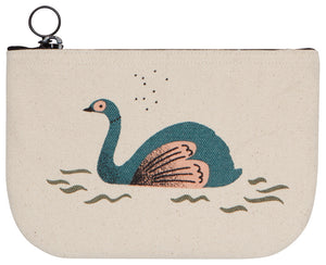 Mighty One Swan Small Zipper Pouch
