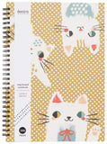 Meow Meow Cat Notebook Ring Bound
