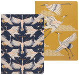 Notebook Set of 2 Flight of Fancy Cranes