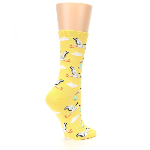 Women's Socksmith Special Delivery Stork Yellow Socks