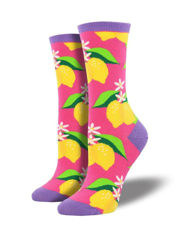 Women's Socksmith When Life Gives you Lemons Socks in Pink