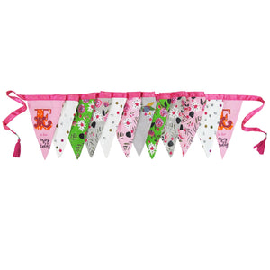 Ampersand Bunting in Pink & Green by House of Disaster