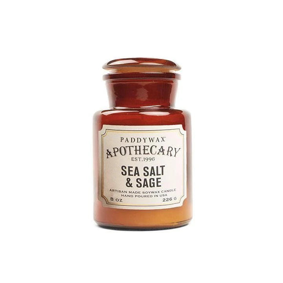 Sea Salt & Sage Paddywax 8oz Apothecary Jar