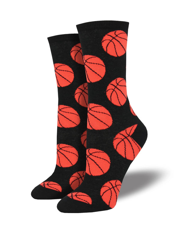 Women's Socksmith Alley-Oop Basketball Socks In Black