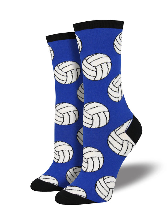 Women's Socksmith Bump, Set, Spike Volleyball Socks in Blue