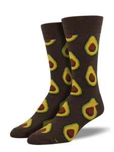 Men's Socksmith Avocado Socks in Heather Brown