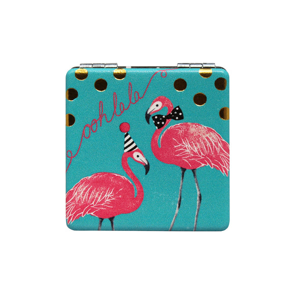 Oohlala Party Flamingo Compact Mirror