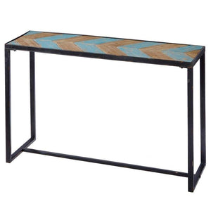 Console Table with Chevron Top