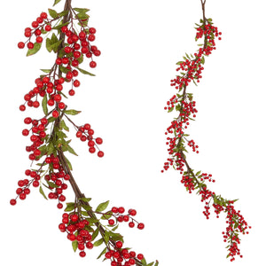 5' Holly Berry Garland