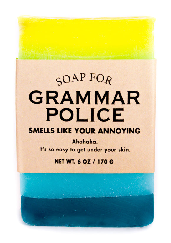 Whiskey River Soap – Grammar Police Soap