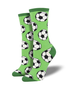Women's Socksmith Give and Go Soccer Socks in Green