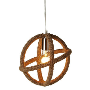 Wrapped Rope Sphere Pendant Light – Plug in or Hard Wire