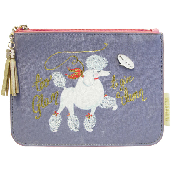 Keepsake Too Glam Pouch with Poodle by House of Disaster