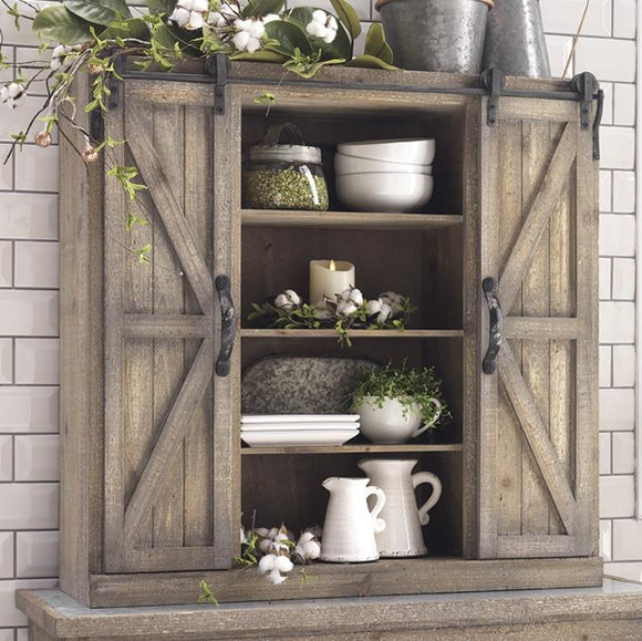 Barn Door Cabinet with Sliding Doors – Larger Size - Local Pick Up Only