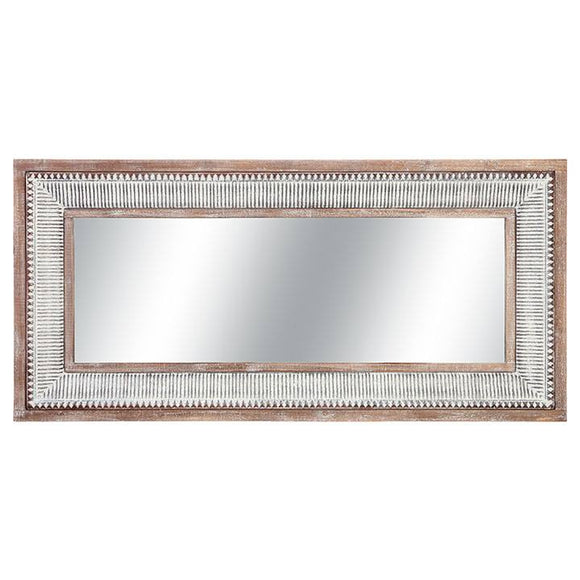 Large Metal and Wood Mirror – Mount or Lean