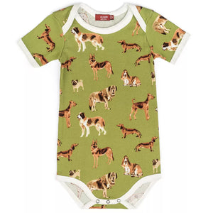 Dogs Organic Cotton Onesie by Milkbarn
