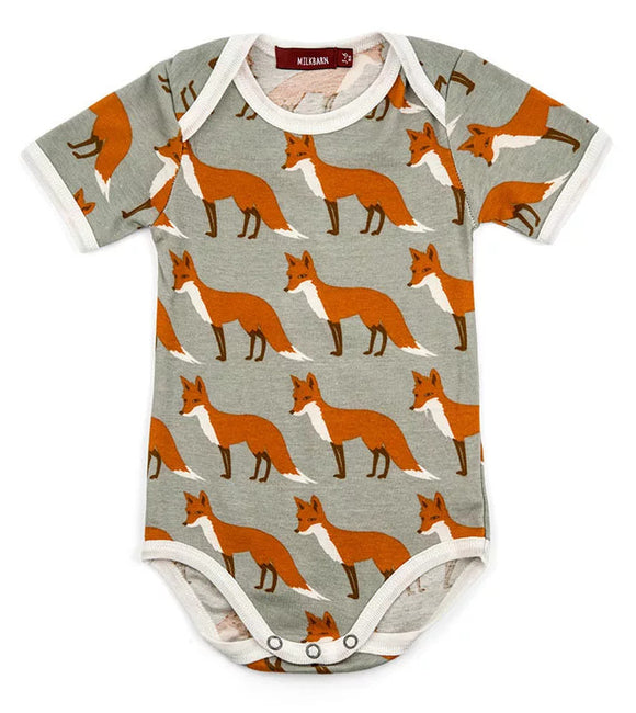 Foxes Organic Cotton Onesie by Milkbarn