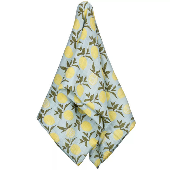 Lemon Organic Cotton Swaddle by Milkbarn
