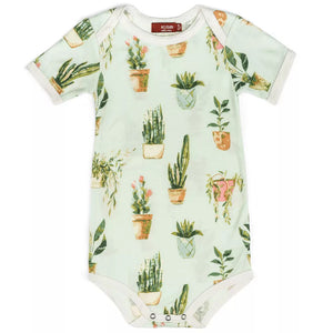 Potted Plants Bamboo Onesie by Milkbarn