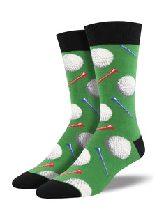 Men's Socksmith Tee it Up Golf Socks in Green