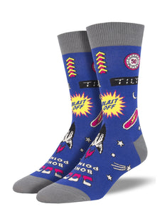Men's Socksmith Full Tilt Pinball Socks in Navy