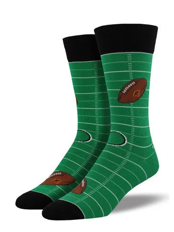 Men's Socksmith Football Socks in Green