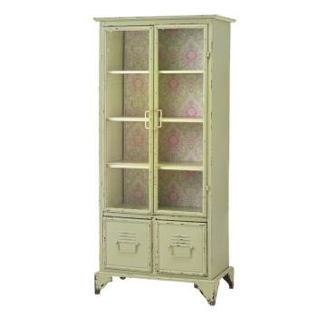 Antique Cream Locker with Floral Back - Local Pick Up Only