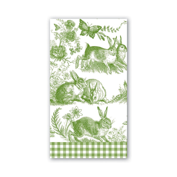 Bunny Toile Hostess Napkin Michel Design Works