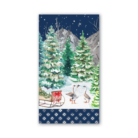 Christmas Snow Hostess Napkin