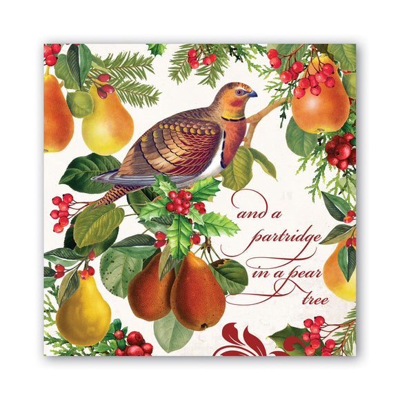In a Pear Tree Luncheon Napkin