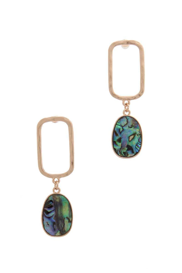 Gold Drop Earrings with Abalone
