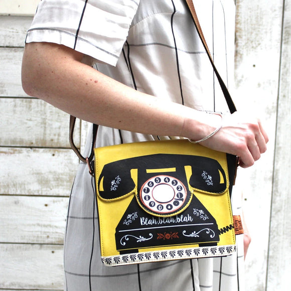 Penny Black Telephone Purse by House of Disaster