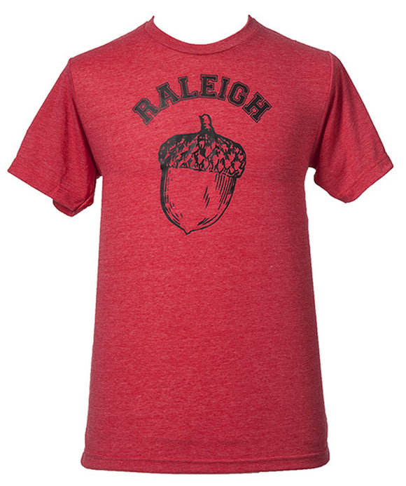 Men's Raleigh Acorn T-Shirt in Red House of Swank