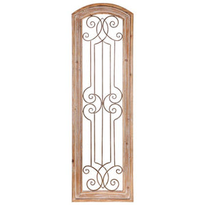 Wood and Metal Decorative Panel