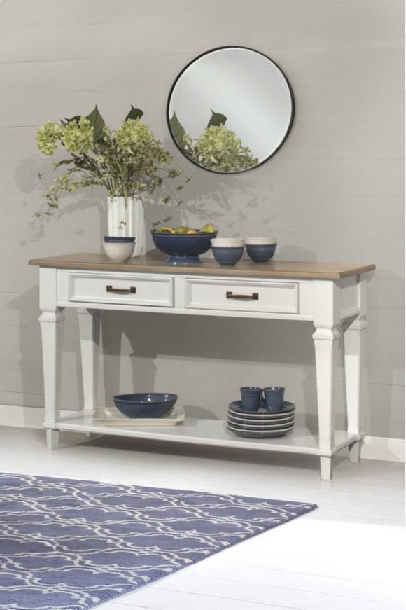 White & Wood Rockport Sideboard Table