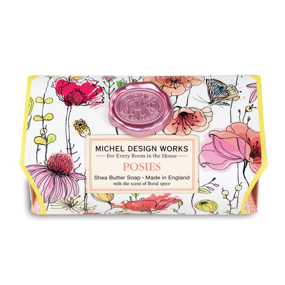 Posies Large Bath Soap Bar Michel Design Works