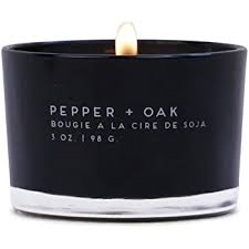 Pepper + Oak Paddywax Statement Candle 3oz in Glass